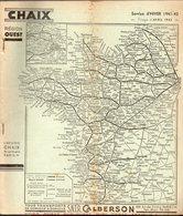 Indicateur Horaires CHAIX  Avril 1942   Réseau REGION OUEST   (CAT 1427) - Europa