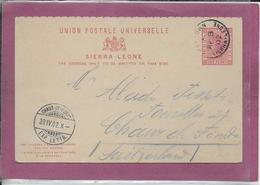 UNION POSTALE UNIVERSELLE SIERRA LEONE - Enteros Postales