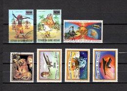 Guinea Bissau  1976-78  .-  Y&T  Nº  3/4-27-31-42/44    Aéreos - Guinea-Bissau