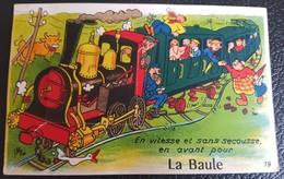 44 LA BAULE ... Carte à Système : En Vitesse Et Sans Secousse ... Train (Artaud 19) Bien Complète - La Baule-Escoublac