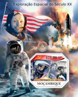 Mozambique 2011  Space Explorations Of  20th  Century,( Yuri Gagarin ,Neil Armstrong) - Mozambique