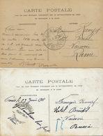 2 Cards Sent To Hotel Bristol Varsovie Russie To François Kumpf - Poland