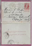 CARTE-LETTRE  ( Postée De Bruxelles ) 1908 - Stamped Stationery