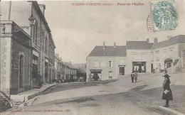 Carte Postale Ancienne De Saint Denis D'Orques Place De L'église - Autres Communes