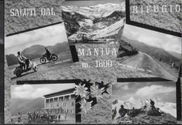 SALUTI DAL RIFUGIO MANIVA - FOTO BONOMINI - TIMBRO DEL RIFUGIO - VIAGGIATA 1964 DA COLLIO-BRESCIAì - Saluti Da.../ Gruss Aus...