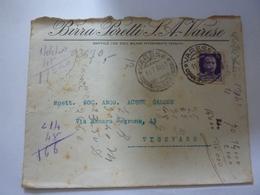 "Busta  Viaggiata ""BIRRA POLETTI S.A. VARESE"" 1934 - Storia Postale"