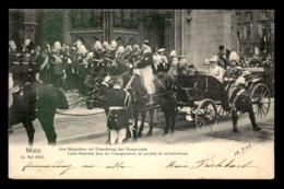 57 - METZ - LEURS MAJESTES LORS DE L'INAUGURATION DU PORTAIL DE LA CATHEDRALE 14 MAI 1903 - Metz