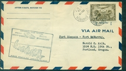 CANADA 1929 19 Dec. 1er Vol Fort Simpson / Fort Mac Murray TB (traineau à Chiens ) - Primeros Vuelos