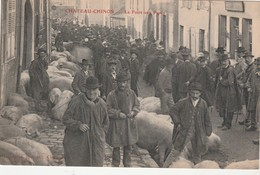 - 58 - CPA - CHATEAU-CHINON - La Foire Aux Porcs - 005 - Chateau Chinon