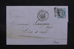 FRANCE - Lettre De Toulouse Pour L 'Isle D'Albi En 1872 , Affranchissement Cérès - L 31098 - Storia Postale