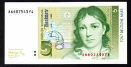 Germany 5 Mark 1991 UNC - [ 7] 1949-… : RFA - Rep. Fed. Tedesca