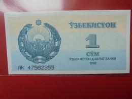 OUZBEKISTAN 1 SUM 1992 PEU CIRCULER/NEUF - Oezbekistan