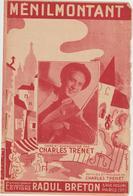 (TRE)CHARLES TRENET , Menil  MONTANT - Partituren