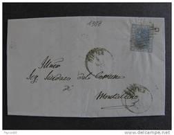 """1388 ITALIA Regno-1867- """"L. 26 Effigie"""" C. 20 SIENA>MONTALCINO (descrizione) - Marcophilie"""