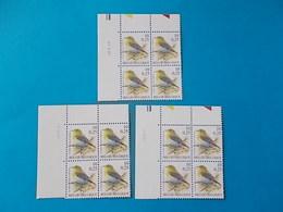 A - 10 '%  BLOCS  DE  4 N° 2936   DATE - 1985-.. Oiseaux (Buzin)