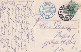 ALSACE-LORRAINE 1915  CARTE POSTALE CENSUREE DE SAARBURG - Postmark Collection (Covers)