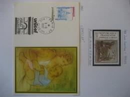 Frankreich 1981/82- Belege Unicef Und Todestag Virgil Mi. 2293 - Briefe U. Dokumente