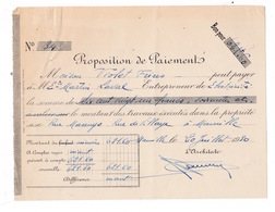 Proposition De Paiement 1930 Maison Violet Frères à Ets Martin Laval, Marseille - Electricity & Gas