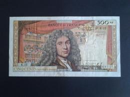 RARE 500F MOLIERE DU 6-1-1966 ALPHABET  K.22 - 1959-1966 ''Nouveaux Francs''