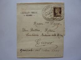 """Busta Viaggiata """"Rev. Don Bottero Rettore Santuario Madonna Della Riva ( Cuneo )"""" 1935 - 1900-44 Vittorio Emanuele III"""