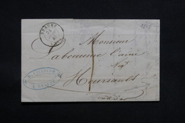 FRANCE - Lettre De Beaune Pour Meursault En 1845 , Cursive Au Verso - L 31111 - 1801-1848: Voorlopers XIX