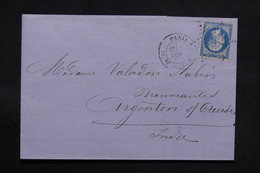 FRANCE - Lettre De Paris Pour Argenton / Creuse, Affranchissement Napoléon - L 31114 - Marcofilia (sobres)