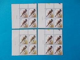 A - 10 '%  BLOCS DE  4 N° 2425   DATE - 1985-.. Oiseaux (Buzin)