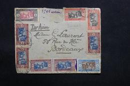 SÉNÉGAL - Enveloppe ( Devant ) De Dakar Pour Bordeaux Par Avion , Affranchissement Plaisant - L 31124 - Sénégal (1887-1944)
