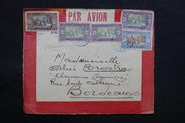 SÉNÉGAL - Enveloppe Latécoère ( Devant ) De Dakar Pour Bordeaux Par Avion , Affranchissement Plaisant - L 31125 - Sénégal (1887-1944)