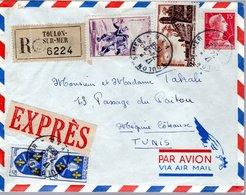 LETTRE RECOMMANDEE 1956 - CACHET POSTAL ARRIVEE MEGRINE - - France