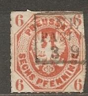 PRUSSE - Yv. N°16, Mi N°15 Percé En Lignes (o) 6p  Orange  Cote  16,5 Euro  D  2 Scans - Prusse