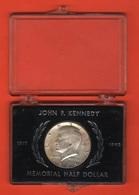 Stati Uniti Usa Kennedy 1964 Half Dollar Scatola Ricordo Box First Year Emission - Emissioni Federali