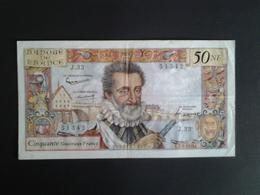 50 NF HENRI IV DU  3-9-1959  ALPHABET J.33 N° 51342 - 1959-1966 ''Nouveaux Francs''