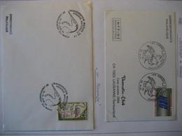 Frankreich 1981/86- Belege Mit Vögel Im Stempelbild - Briefe U. Dokumente