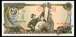 NORTH KOREA 50 WON 1978 Pick 21a Unc - Corée Du Nord