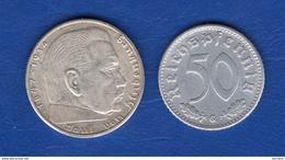 All  50  Pf  1940 G  Rare   +  1 Piece  Arg - [ 4] 1933-1945 : Third Reich