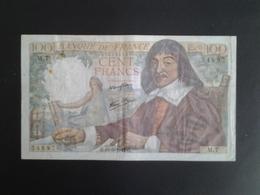 100F DESCARTES DU 15-5-1942 M.7 - 100 F 1942-1944 ''Descartes''