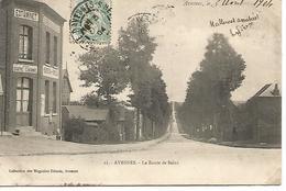 Ac10/   62    Avesnes    Route De Sains   Estaminet Des 4 Chemins  (animations) - Avesnes Le Comte
