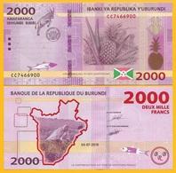 Burundi 2000 Francs P-new 2018 (2019) New Date & Features UNC Banknote - Burundi