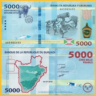 Burundi 5000 Francs P-new 2018 (2019) New Date & Features UNC Banknote - Burundi