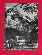 CARTOLINA VG ITALIA - Grande Albergo Di PLANPINCIEUX - COURMAYEUR E Le Grandi Jorasses - 10 X 15 - ANN. 1957 - Altre Città