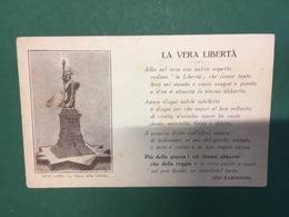 Cartolina La Vera Libertà - Gigi Ramognini  - Statua Della Libertà - 1950 Ca. - Cartoline