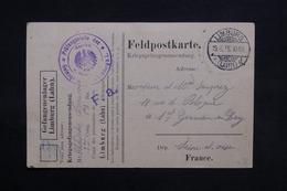 ALLEMAGNE - Carte De Correspondance De Prisonniers à Limburg Pour La France En 1915 - L 31148 - Deutschland