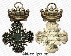CATANIA 1883  '' MEDAGLIA DELL'ACCADEMIA STESICOREA ATTRIBUITA AL POETA FRANCESE JULES BLANCARD - Monarchia/ Nobiltà