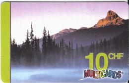 SWITZERLAND - MULTICARD - MOUNTAIN IN THE EVENING SUN - Suriname