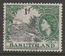 Basutoland/Lesotho 1954 Queen Elizabeth II  1 P Green/black SW 47 O Used - 1933-1964 Colonia Britannica