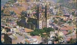POSTAL MEXICO - VISTA DOMINADA POR LA PARROQUIA DE STA PRISCA - ISBEL - CIRCULADA - México