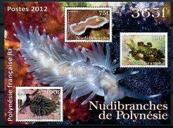 Polynésie, BF N° 38** Y Et T, Bloc - Feuillet , Nudibranches, Timbres N° 991 à N° 993** - Blocs-feuillets