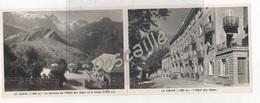 05 HAUTES ALPES - PUBLICITE HOTEL DES ALPES JUGE-TAIRRAZ - LA GRAVE - 2 VUES - PROMENADES ET EXCURSIONS - Advertising