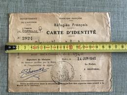 CARTE IDENTITE REFUGIES FRANCAIS REP. FRANÇAISE RODEZ CARCENAC AVEYRON 1940 - 1939-45